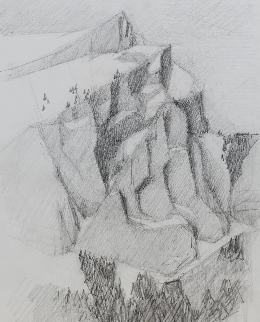 berge zeichnung bleistift